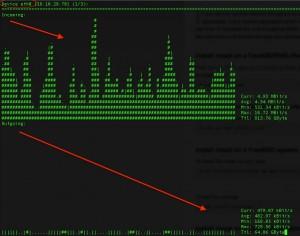 nload monitor de red en vivo