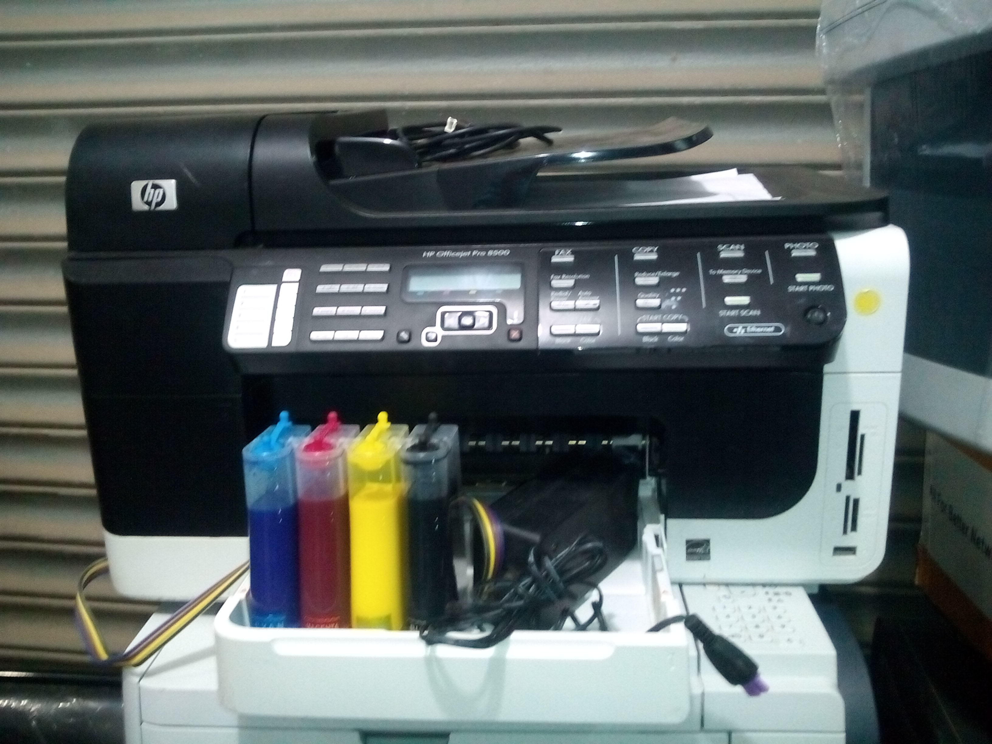 HP 8500 Officejet All in one printer with CISS KIT