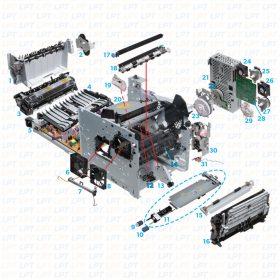HP Printers M601-3 Diagram